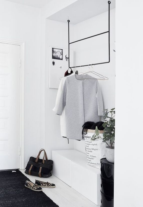 Scandinavian inspired entryway |  photo by Riikka Kantikoski via #lagerma via here