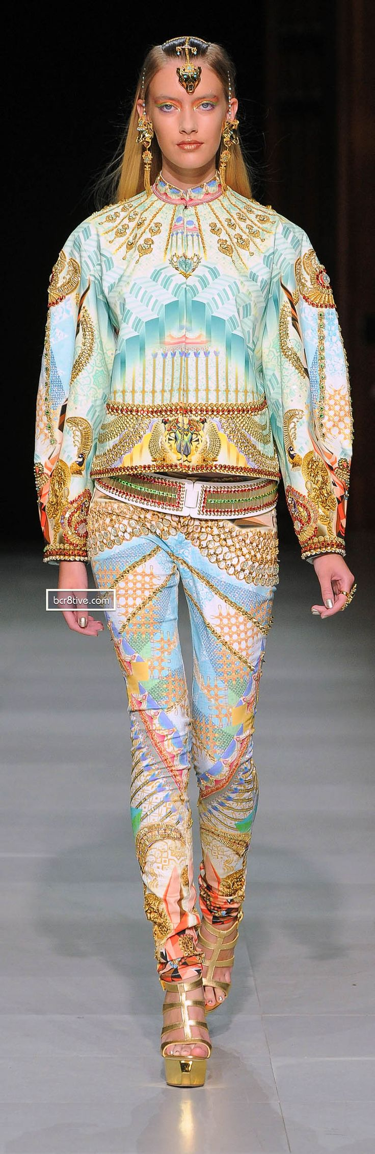 Manish Arora Spring Summer 2013 Collection. ...I'm not crazy about this at all, but it's unique enough to pin...
