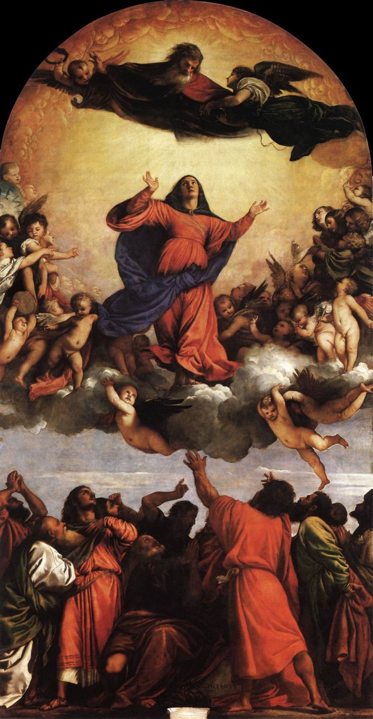 Assumption of the Virgin 1516-18 Oil on wood, 690 x 360 cm Santa Maria Gloriosa dei Frari, Venice