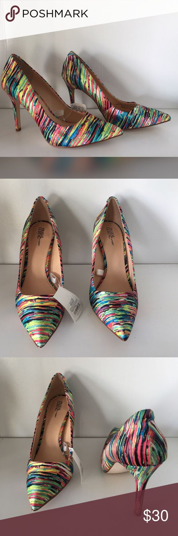 Prabal Gurung for Target Multicolor Pumps Multi-Color Neon Pumps. Perfect heel height. Shoes Heels