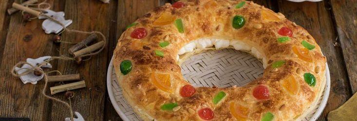 Roscón de Reyes de hojaldre con nata