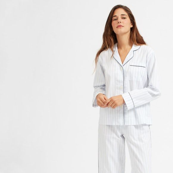 $45 Oxford Pajama Shirt - SOLD by Everlane - affiliate - Perfect for sleeping in and chilling out.   Our oxford pajama shirt features classic details like an open neckline, contrasting piped trim, and French seams.   The easy, relaxed fit makes it even easier to kick back and relax. Model is5′10″Wearing sizeS  Relaxed fit  100% cotton  Machine wash cold; tumble dry low; warm iron if needed