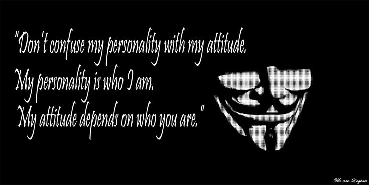 Dark Anonymous Abstract Dark Quote Wallpaper