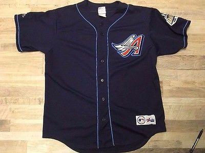 Anaheim Angels Baseball Jersey Majestic MLB Size Large | eBay