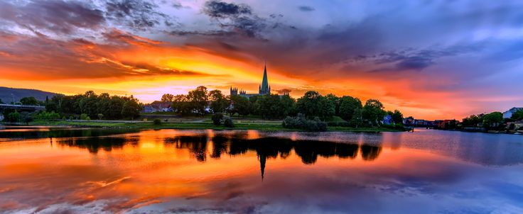 Photograph Sunset over Nidarosdomen by Aziz Nasuti on 500px
