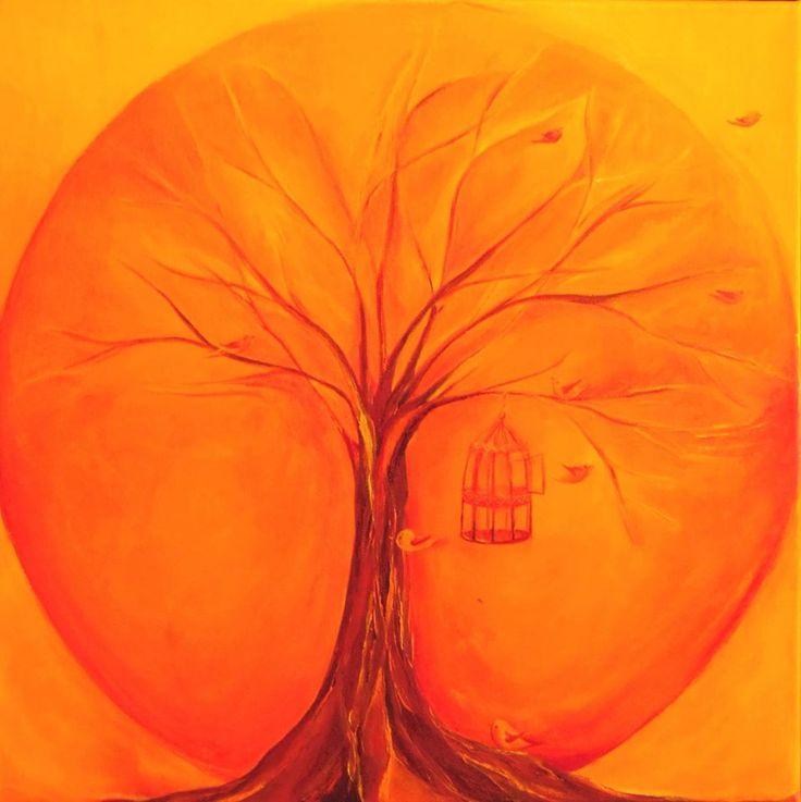 Love mandala/Szeretet mandala 40x40 oil canvas 40.000 Huf takatseva@gmail.com