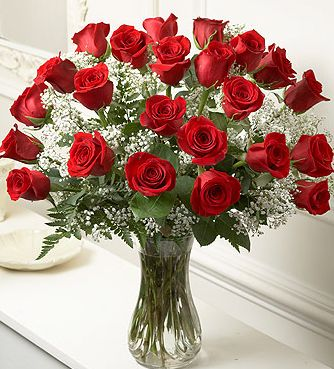 Long stem roes flowers for valentine day