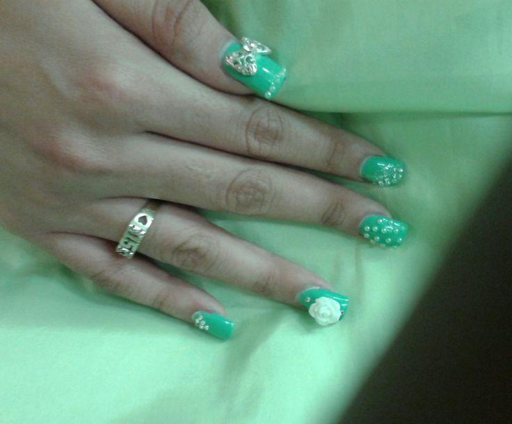 Mejores 105 imágenes de Acrylic nails (my work) en Pinterest | Uñas ...