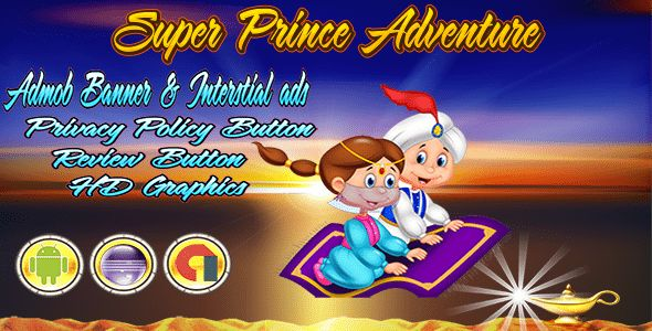 Download Super Prince Adventure - Admob Banner & Interstitial- Eclipse Project Nulled Latest Version