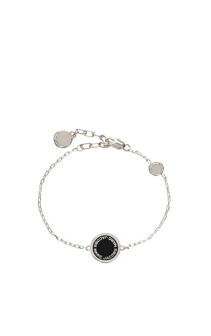Armband Logo Disc Link BLACK/SILVER - Marc Jacobs - Designers - Raglady
