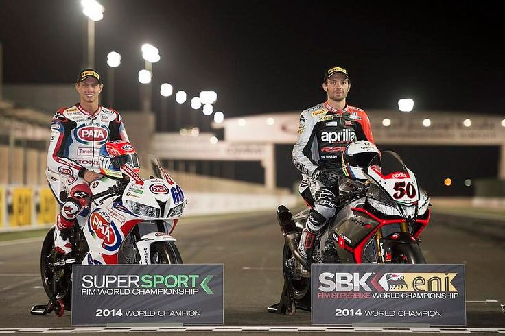 The new world champions. Michael vd Mark and Sylvain Quintoli. Both next year in the one and only Honda Ten Kate world superbike team