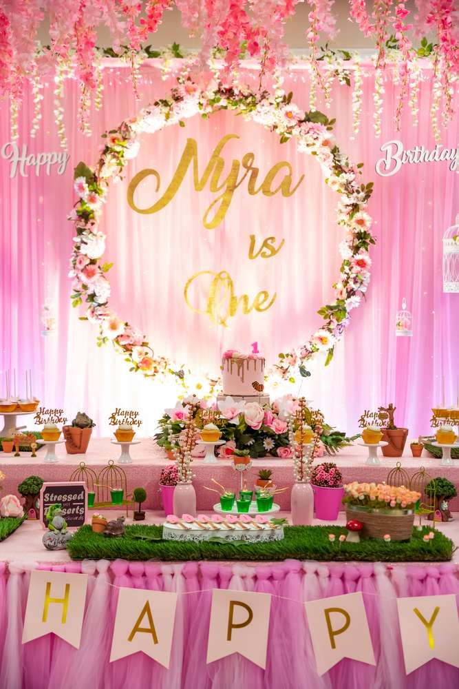 Indoor Garden Birthday Party Ideas 1st Birthday Party For Girls