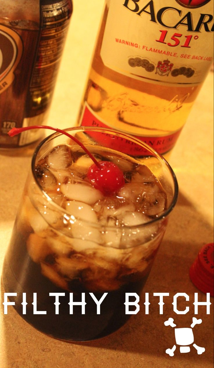 Filthy Bitch. Crown Royal, Bacardi 151 and Root Beer