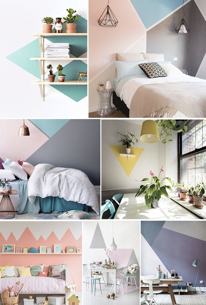17 Best ideas about Geometric Wall – Bedroom Wall Paint Ideas