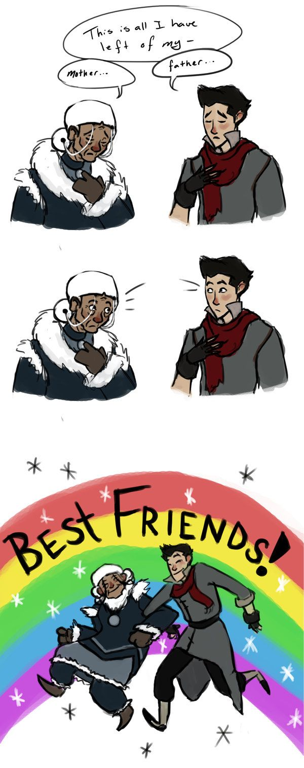 The Legend of Korra: omg i love this! wish it was in the show! ((Although Katara now probably wears the neckless Aang made her))