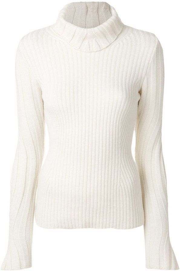 Dondup textured knit roll neck sweater
