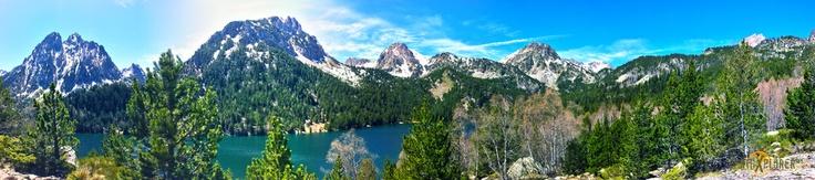 Amazing Panorama of the PyreneesMountains