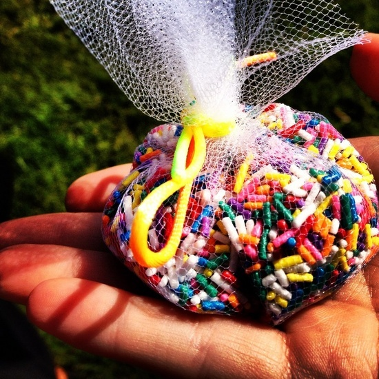 bird seed for throwing at wedding in bucket | Wedding :) / Have people throw sprinkles at you instead of bird seed ...