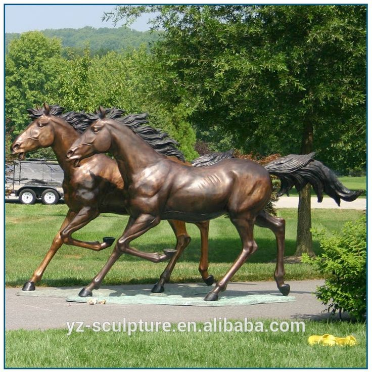 outdoor life size bronze running horse statues for sale