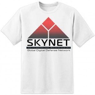 Mens Skynet Terminator T Shirt - White