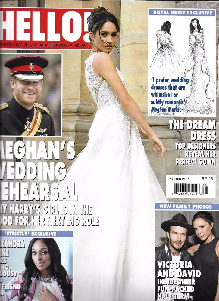 Hello Magazine Meghan Markle Prince Harry David And Victoria Beckham