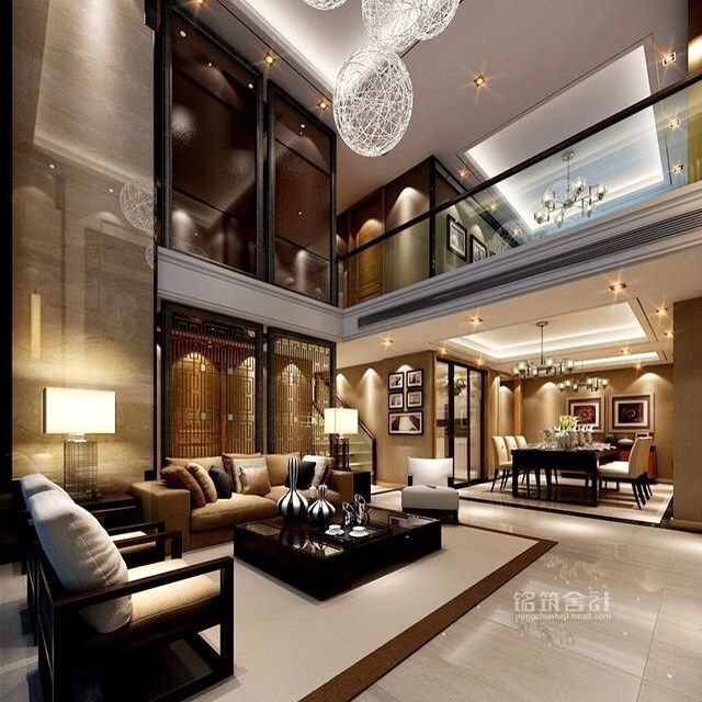 Luxury Modern Mansion Interior: 90 Best Two Story Family Room Images On Pinterest