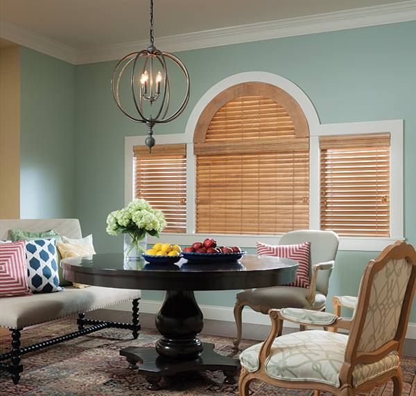 Did you know that #windowblinds can be custom designed to cover those oddly shaped windows in your home? Arched windows, trapezoids and even those small square windows placed high on a wall can be outfitted with #windowtreatments that will allow you to control the light while enjoying the architectural interest these windows provide. #designtip