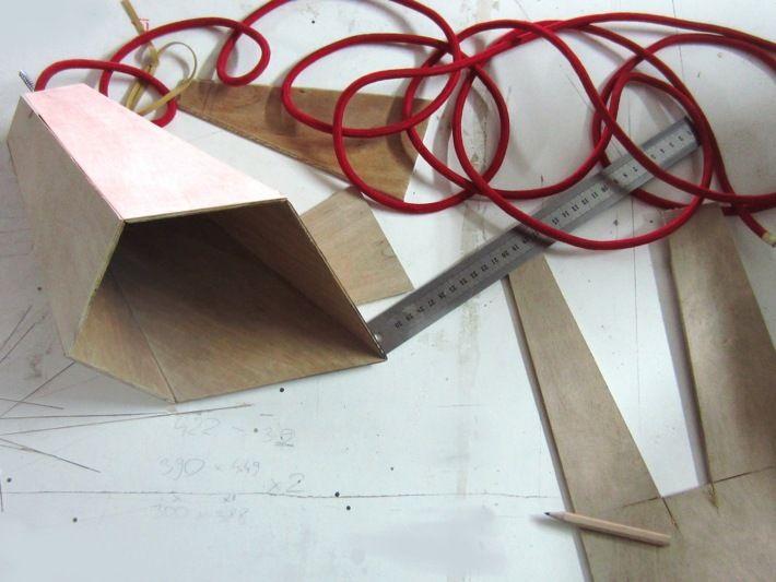 wooden lamp, via Behance