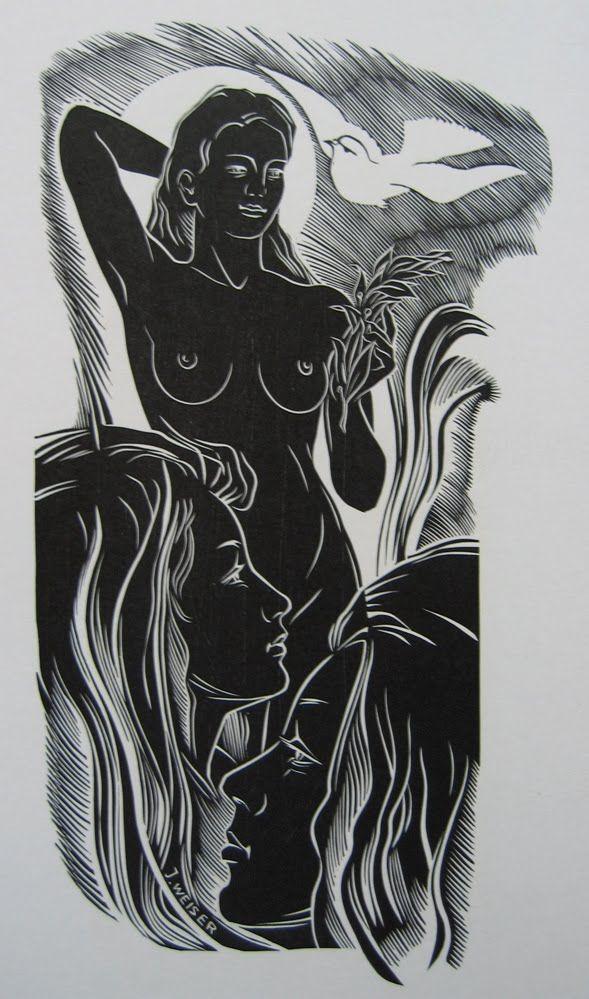 Josef Weiser, Linocut, 1971 International Grafik 20, 1973