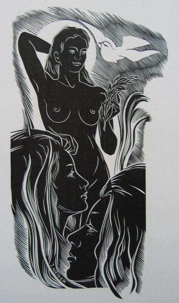 Josef Weiser, Linocut, 1971 International Grafik 20, 1973