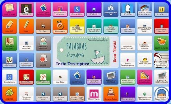 Symbaloo: Herramientas para crear textos descriptivos | PaLaBraS AzuLeS