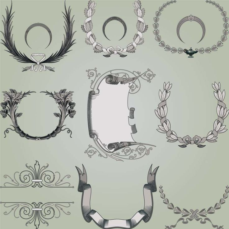 217 best cgspring images on pinterest free vector downloads set of 9 vector wreath decoration elements with floral and flower patterns for your embellishment of framesbackgrounds borders cards invitations stopboris Choice Image