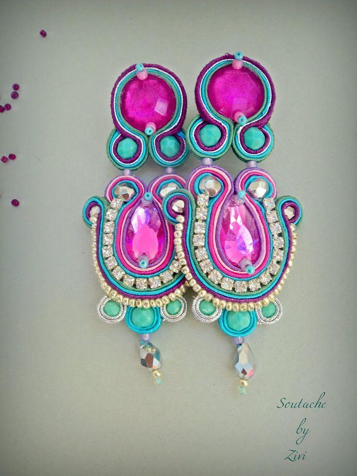 El Rinconcito de Zivi: Pendientes soutache, pendientes flamenca, complementos flamenca, pendientes soutache flamenca, bisuteria flamenca- statement soutache jewelry, long dangle soutache earrings