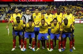 This is the Colombian soccer team. All spanish Speaking countries love this sport.