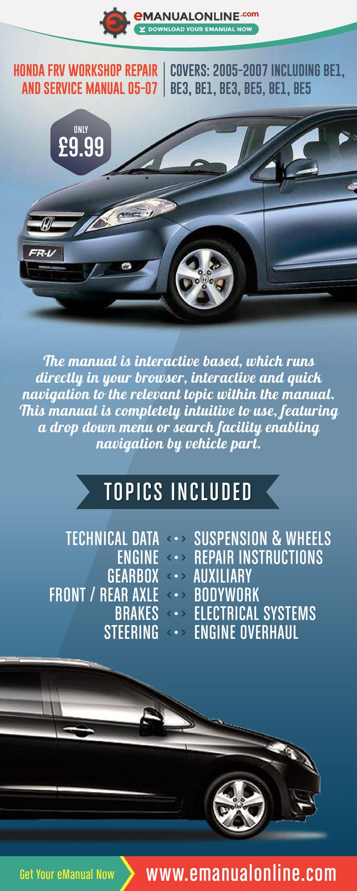 Honda frv workshop repair and service manual 05 07 this workshop manual really is