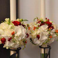 nunta-lumanari-nunta-hortensie-alba-hypericum-rosu-frezii-portocalii