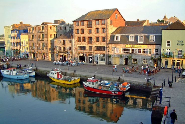 The Barbican is Plymouth, England's delightful old port, full of narrow cobbled streeets, Elizabethan warehouses, specialist shops, art galleries, cafes, restaurants, and Black Friars Distillery, the working home of Plymouth Gin since 1793.