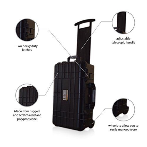 US PRO Waterproof Wheeled Rolling Travel Equipment Tool Box Hard Case With Foam insert 22 by us pro tools -- Read more reviews of the product by visiting the link on the image.