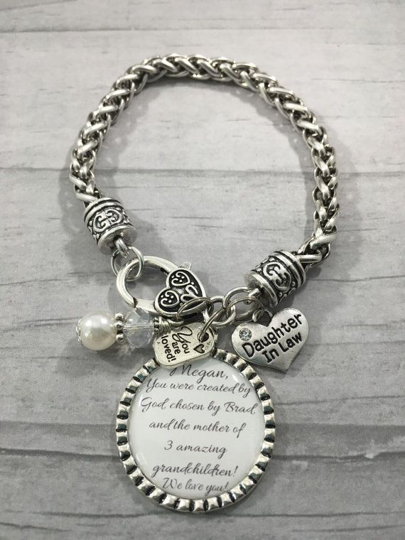 daughter in law bracelet future daughter in law gift for bride bridal shower gift wedding jewelry wedding bracelet bride to be gift