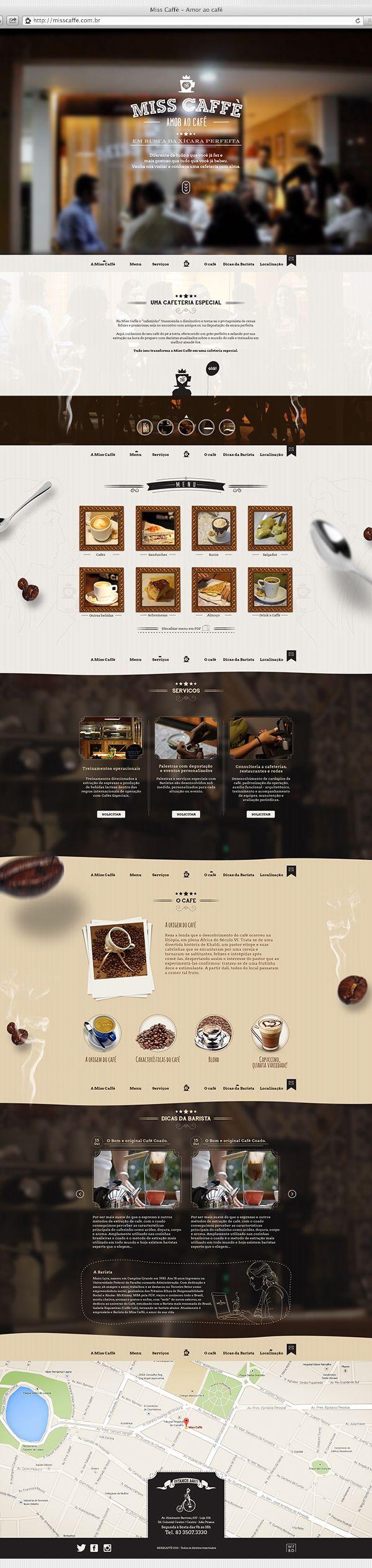 Website for cafeteria in João Pessoa / Paraíba / Brazil.#webdesign #color #photography #typography #ResponsiveDesign #Web #UI #UX #WordPress #Resposive Design #Website #Graphics