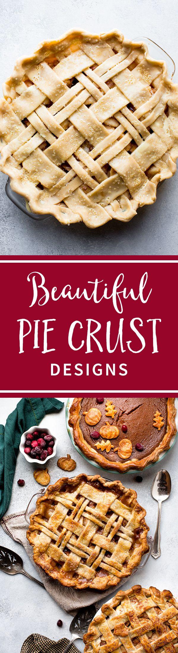 Inspiring pie crust designs on sallysbakingaddiction.com