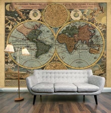 The Old World Wall Mural