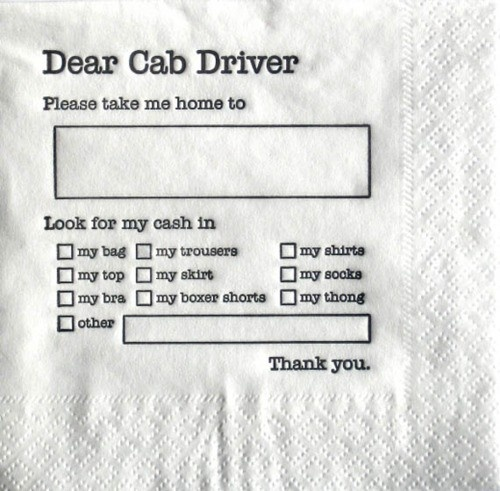 pin to shirt.: Laughing, S'More Bar, Napkins, Giggl, Graphics Design, Funnies, Dear Cab, Bachelorette Party, Cab Drivers