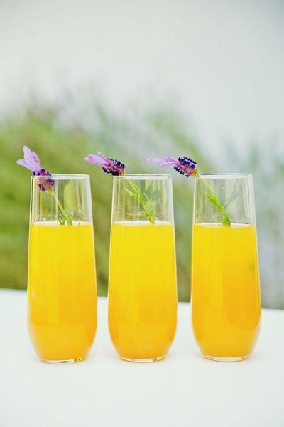 Lavender Bellini.  Terrific summer cocktails for ladies.