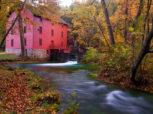 Alley Mill, in the Ozark National Scenic Waterways, in southern Missouri, USA