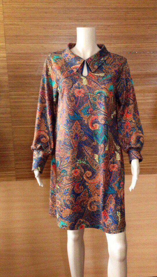 """Купить Платье """"Пейсли"""" - платье на осень, трикотажное платье, трапеция, осень, пейсли, богемное платье"""