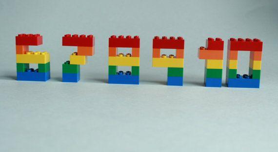 Números LEGO Lego de la torta decoración de la por brickablocks