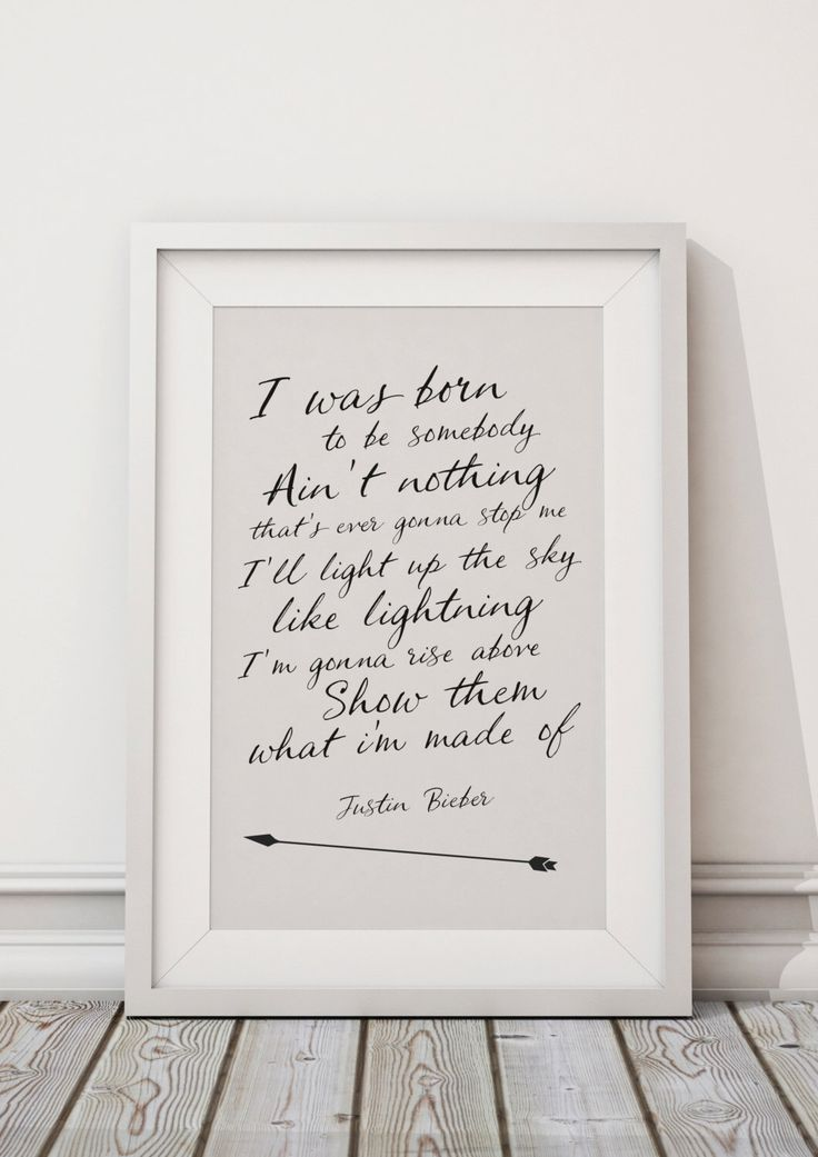 Justin Bieber Quotes - HIGH QUALITY PRINT - Choose Your Size - Wall Art - Poster Print - Modern Design by ohmyframe on Etsy https://www.etsy.com/listing/257639181/justin-bieber-quotes-high-quality-print
