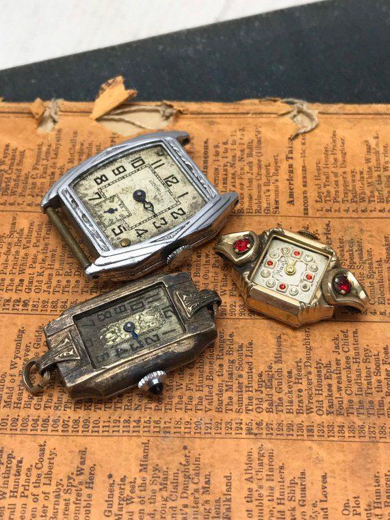 Vintage WATCHES PARTS- Movements Steampunk Jewelry Supply- Destash