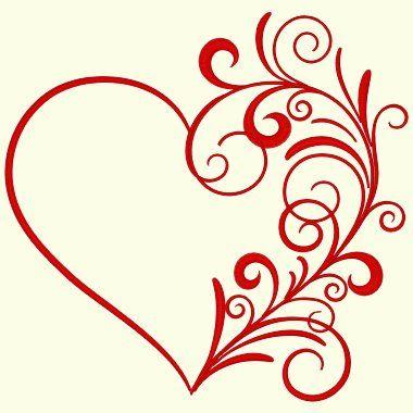 Heart Swirl - 4 Sizes Included